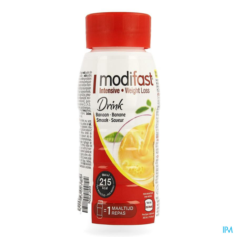 Modifast Snack & Meal Drink Banaan 236ml