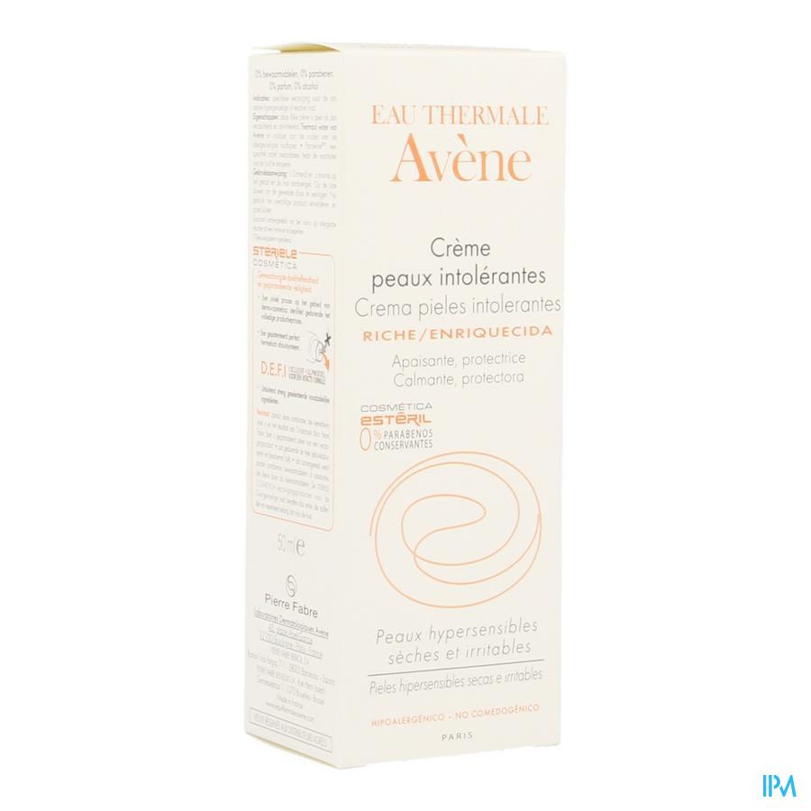 Avene Creme Riche Peaux Intolerantes Nf 50ml