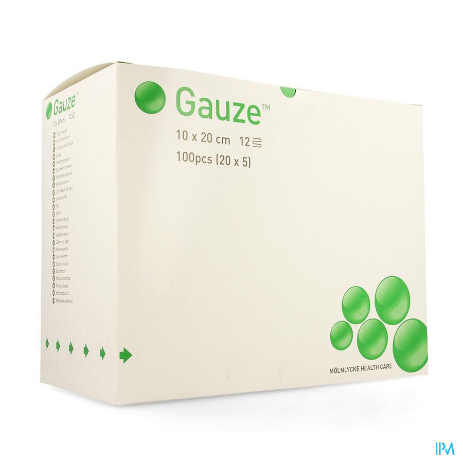 Compresse Gaze Molnl Ster 12c 10,0x20,0cm 20x5