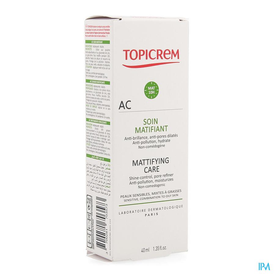 Topicrem Ac Fluide Matifiant Tube 40ml