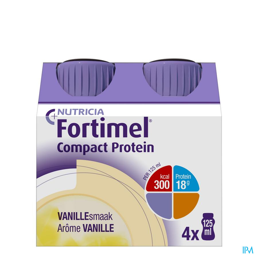 Fortimel Compact Protein Vanille 4x125 ml  -  Nutricia