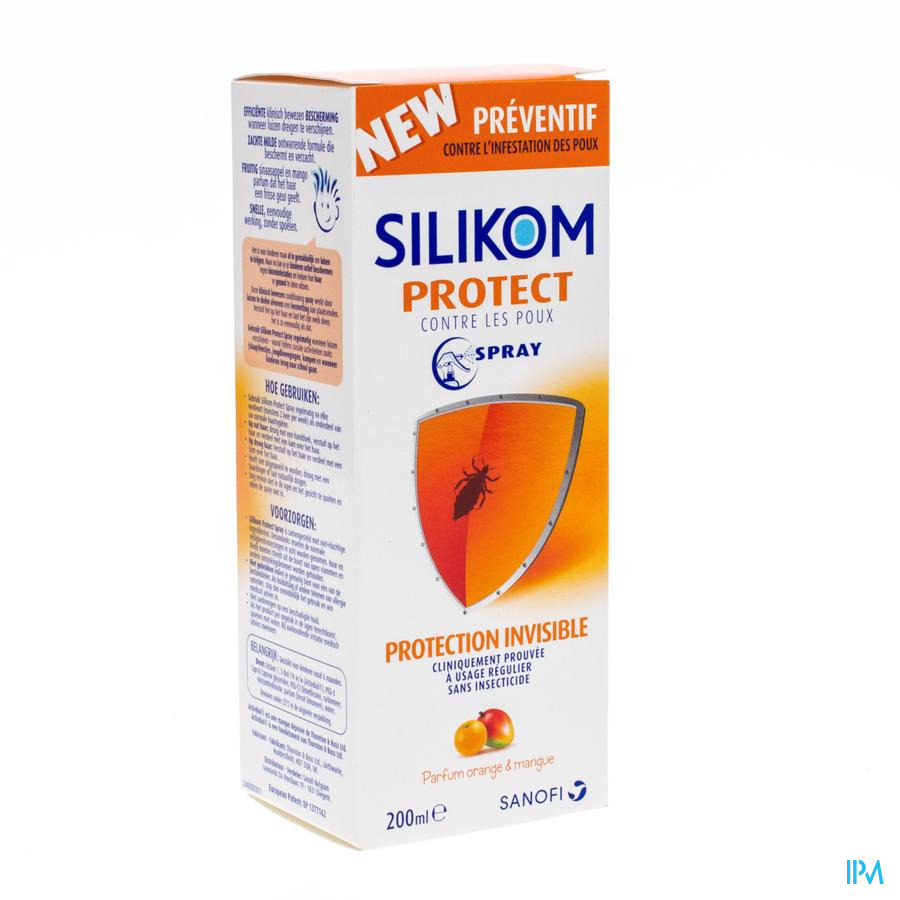 Silikom Protect Lotion A/poux Spray 200ml