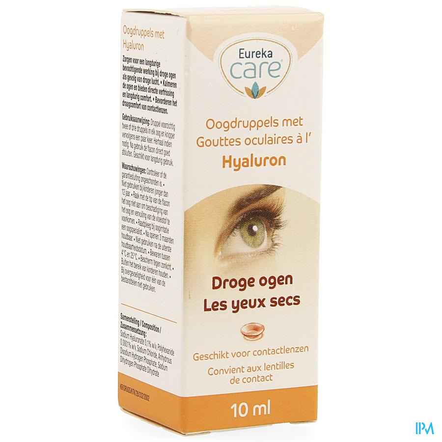 Eureka Care Collyre Yeux Secs Hyaluron 10ml