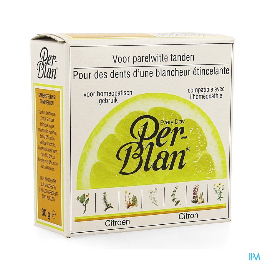 Perblan Poudre Dentifrice Citron 30g