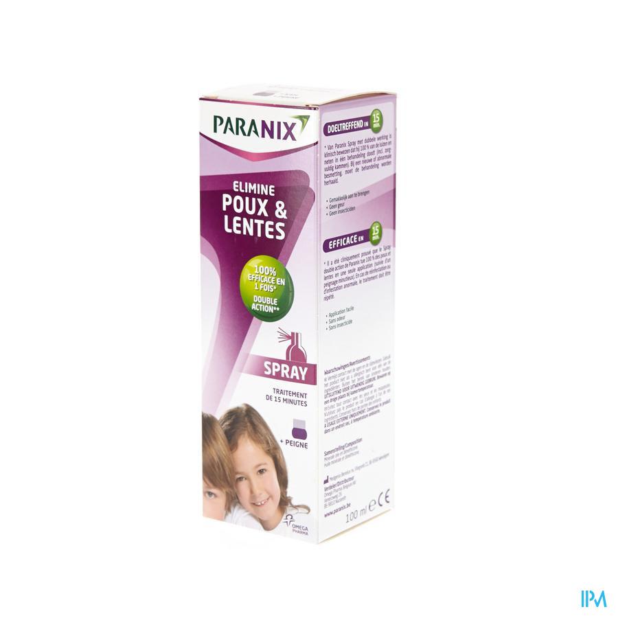Paranix Spray Avec Peigne 100ml