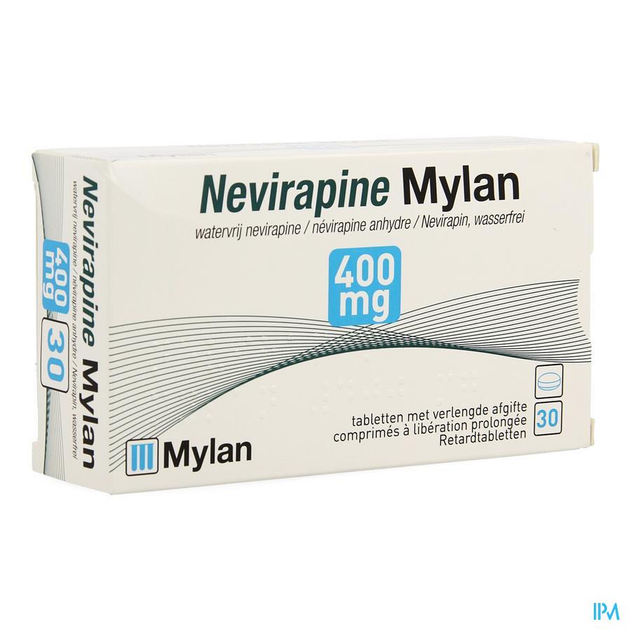 Nevirapine Mylan 400mg Verlengde Afgifte Comp 30