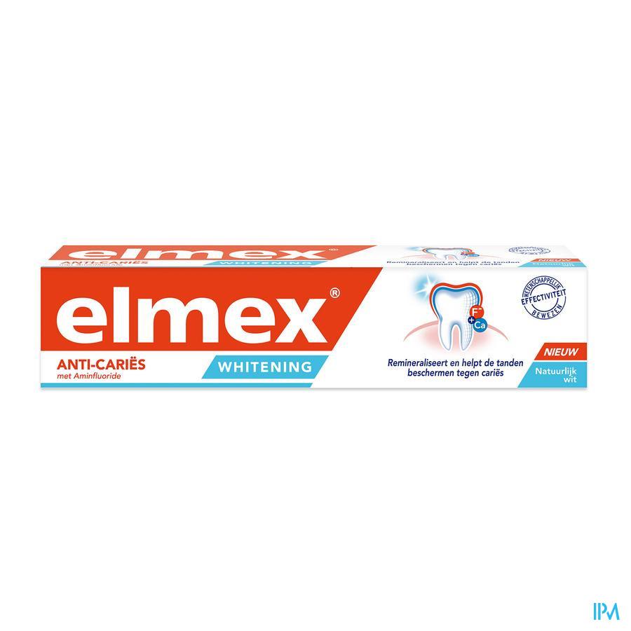 ELMEX® ANTI CARIËS WHITENING TANDPASTA TUBE 75ML