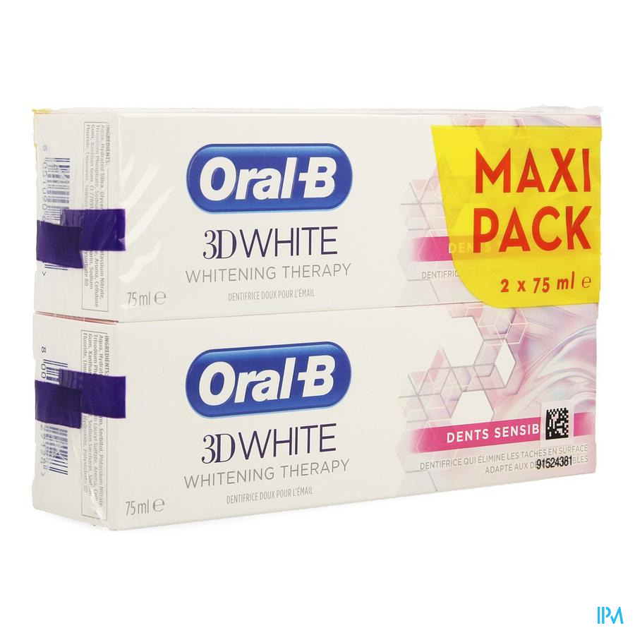 Oral-b 3d White Sensitive 2x75ml