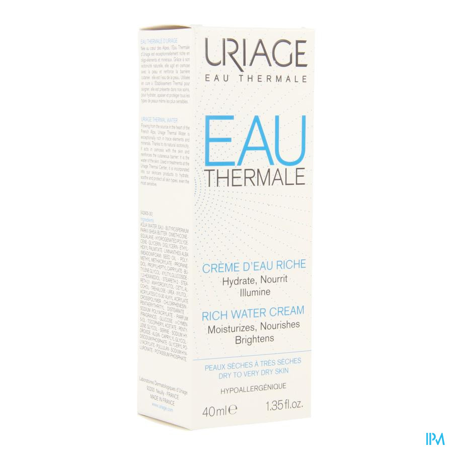 Uriage Thermaal Water Creme Rijk Water 40ml