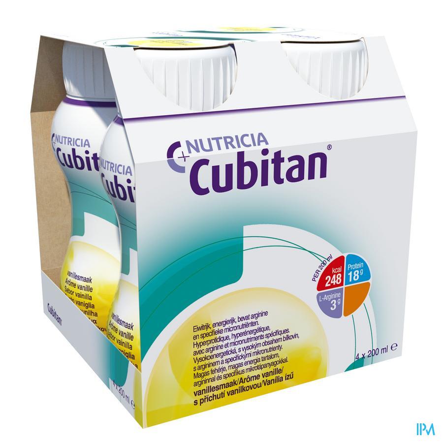 Cubitan Vanille 4x200 ml  -  Nutricia