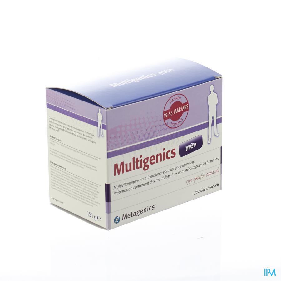 Multigenics Men Pdr Zakje 30 7286 Metagenics