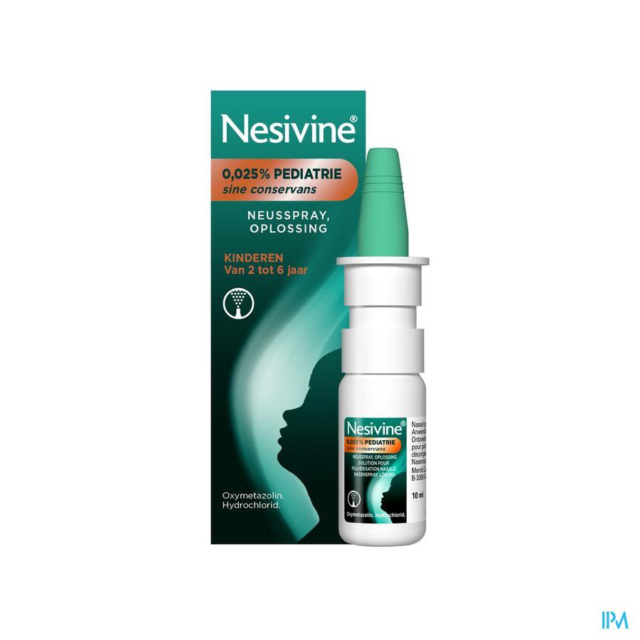 Nesivine 0,025% Sine Conserv Ped Spray Nas 10ml