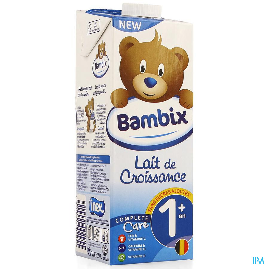 Bambix Groeimelk Natuur 1+ 1l