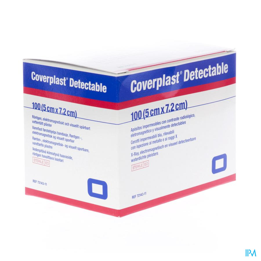 Coverplast Detectable Pans Urgence 5,0x7,2cm 100