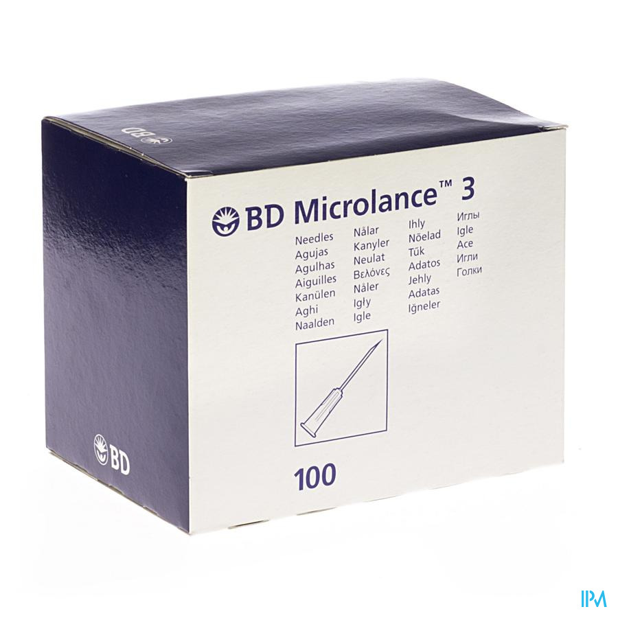 Bd Microlance 3 Nld 27g 3/4 Rb 0,4x19mm Grijs 100