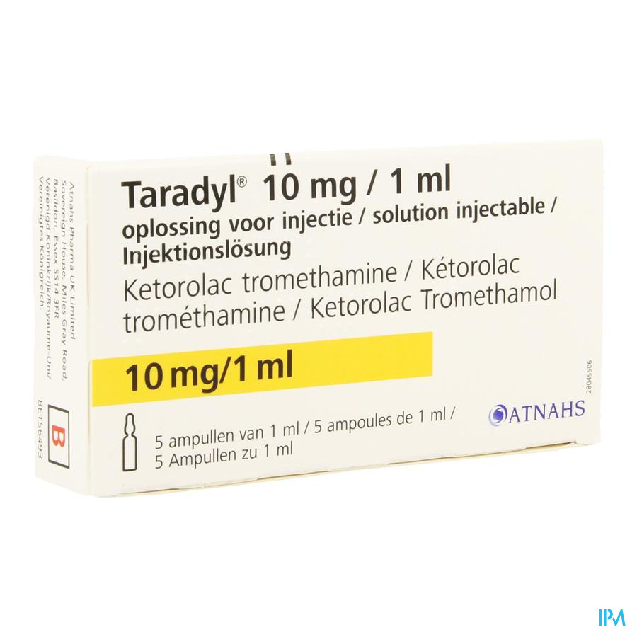 Taradyl 10mg/1ml Opl Inj Amp 5 X 10mg