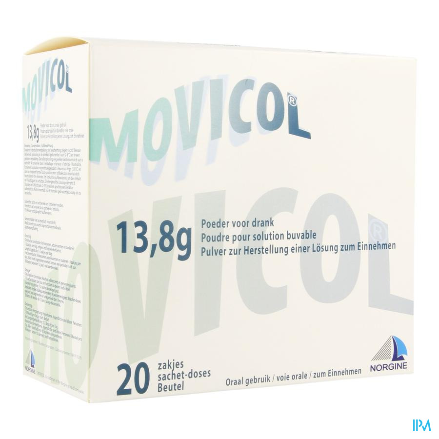 Movicol Impexeco Citron Pdr Sach 20x13,8g Pip