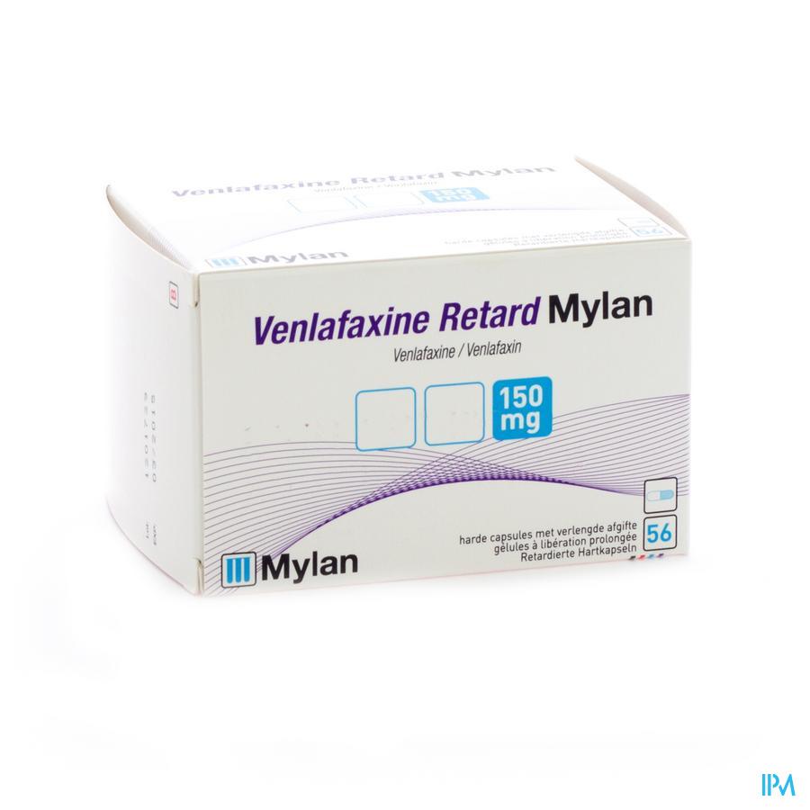Venlafaxine Ret Mylan 150mg Caps Liber Prol 56