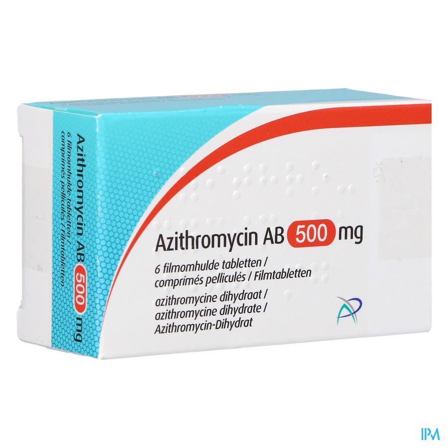 Azithromycine 500mg Eg Tabl Omhulde 6x500 mg