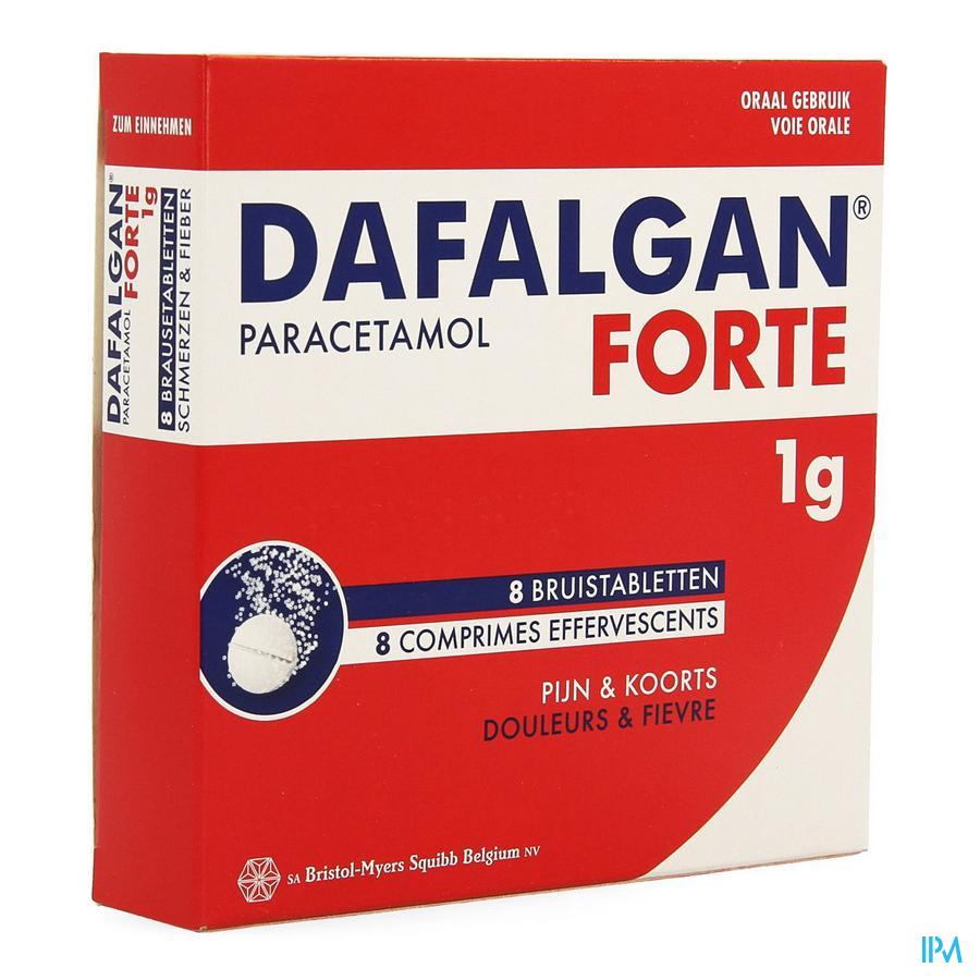 Dafalgan Forte 1g Citrus Bruistabl 8
