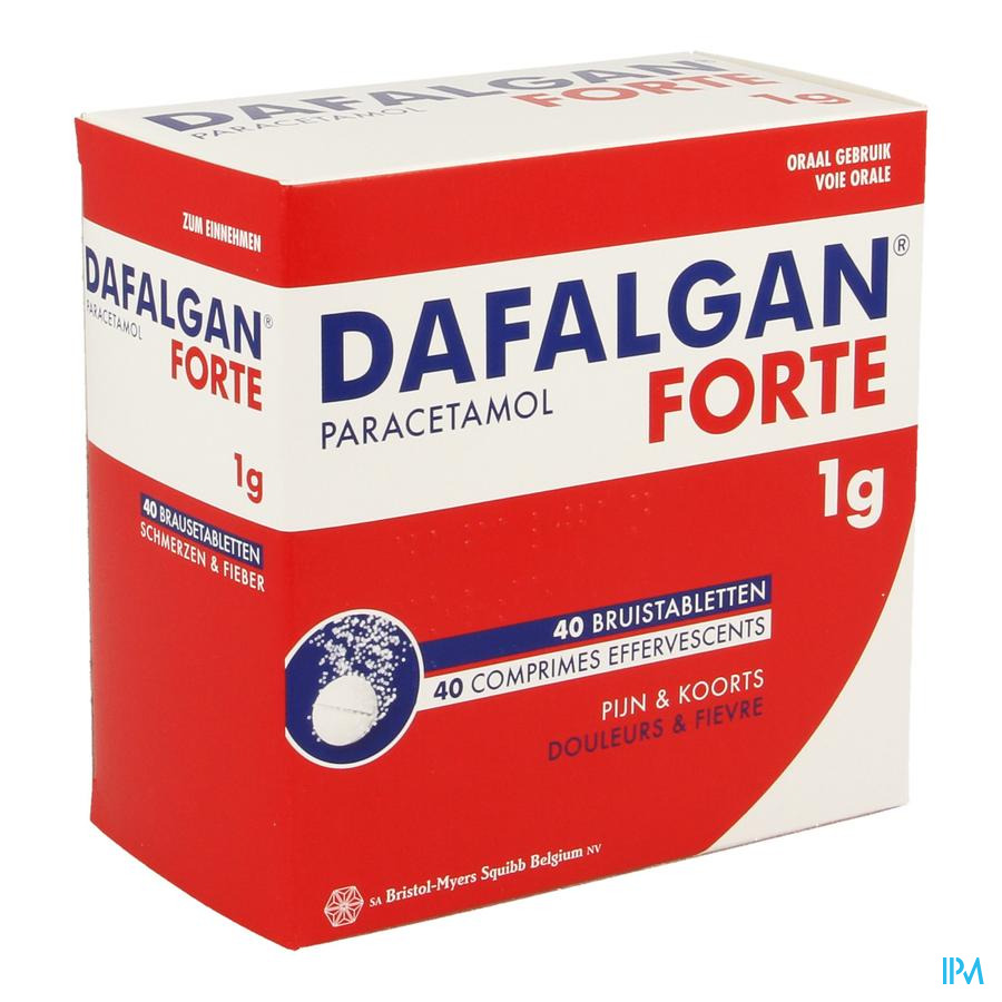 Dafalgan Forte 1g Comp Efferv. 40