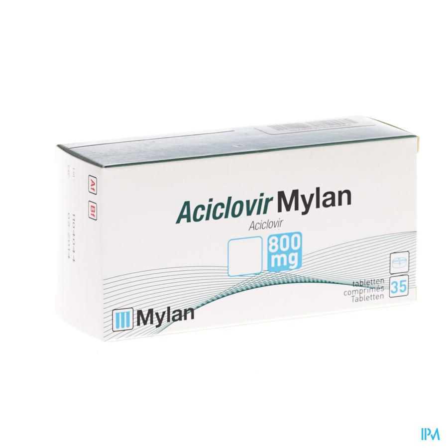 Aciclovir Mylan 800 Comp 35 X 800mg
