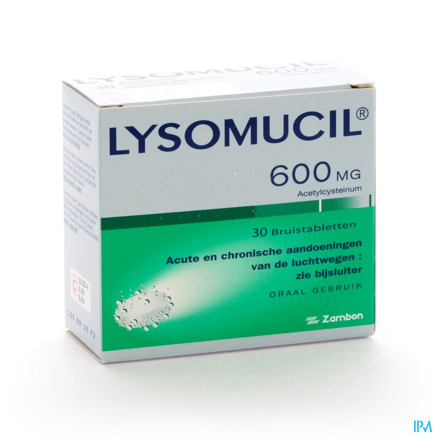 LYSOMUCIL 600MG 30BRSTAB