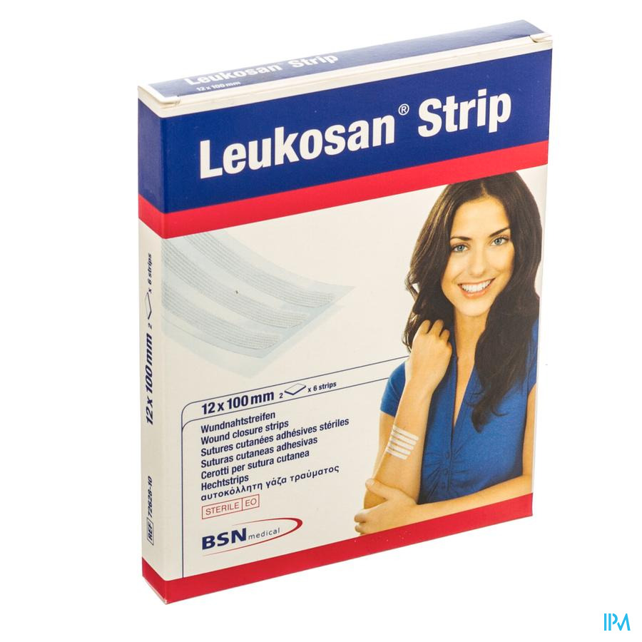 Leukosan Strip Ster 12x100mm Wit 2x 6 7262810