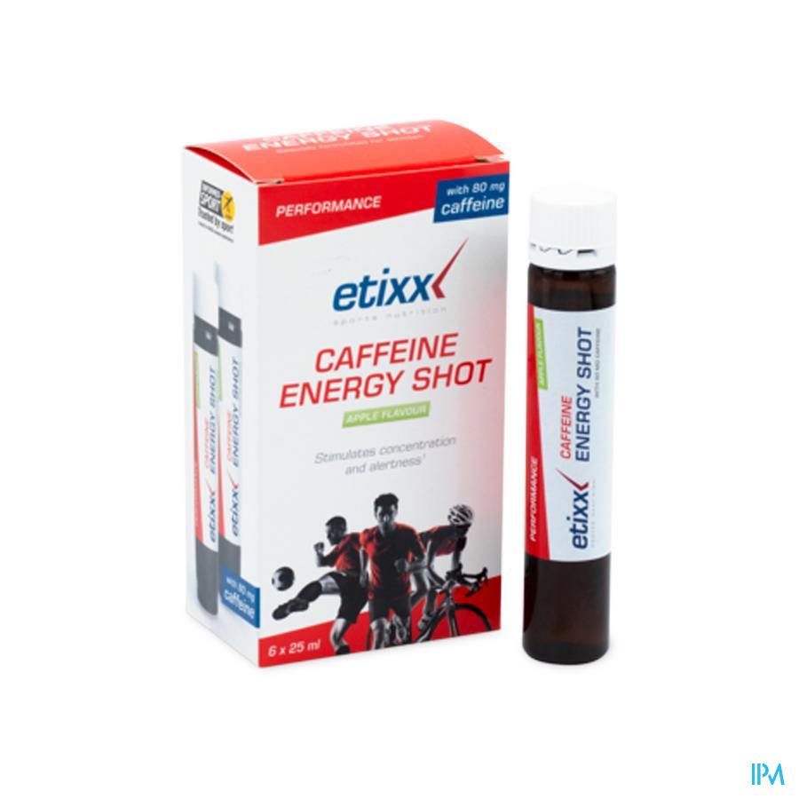 Afbeelding Etixx Caffeine Energy Shot met Appelsmaak Flesje 6 x 25 ml.