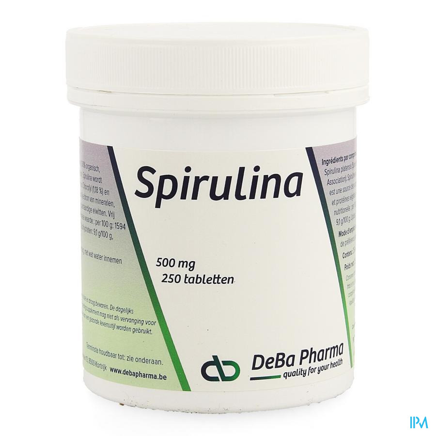 Spirulina Comp 250x500mg Deba