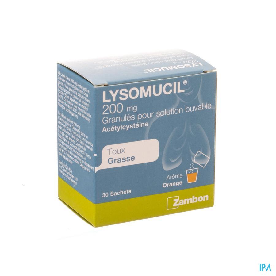 Lysomucil 200 Gran Sach 30 X 200mg