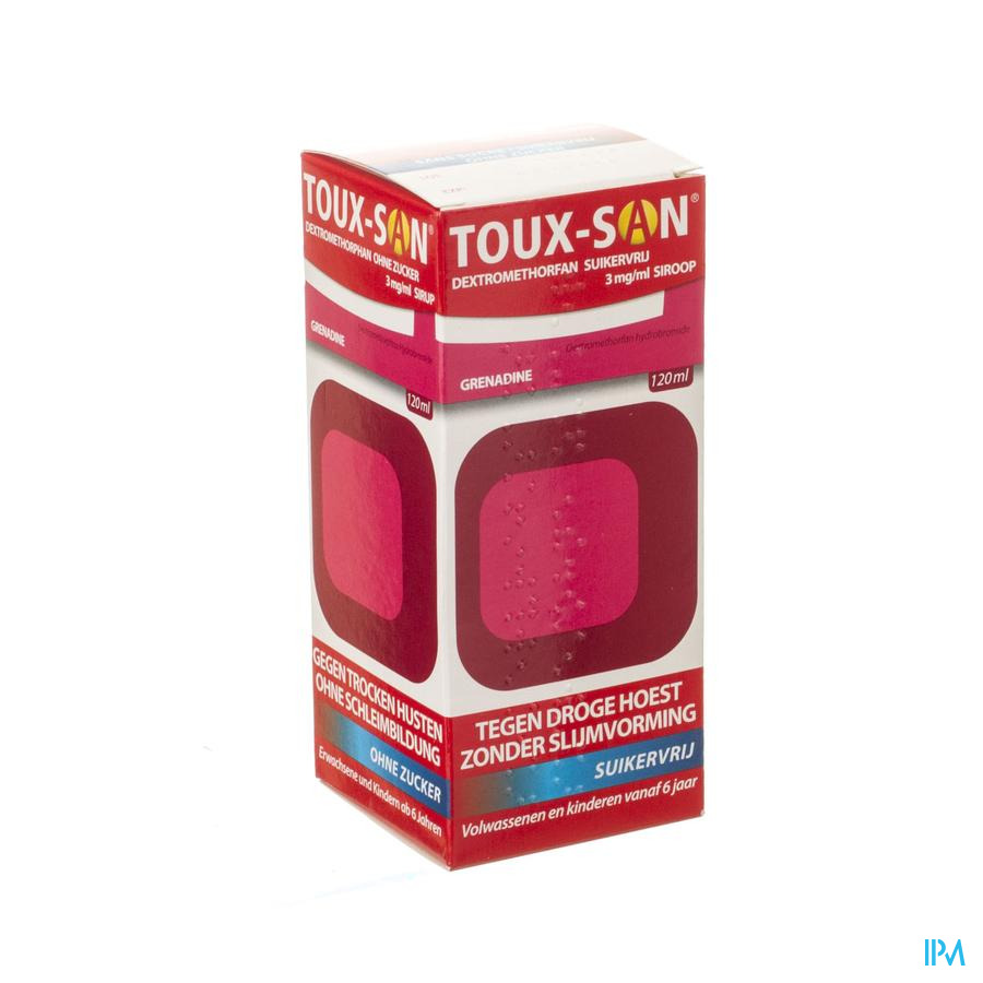 Toux San Dextromet Z/suiker 3mg/ml+grenadine 120ml