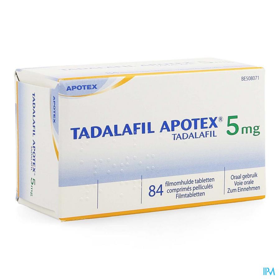 Tadalafil Apotex 5mg Filmomh Tabl 84