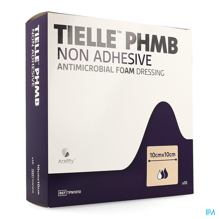 Tielle Phmb Hydropolymeer Verband 10,0x10,0cm 10