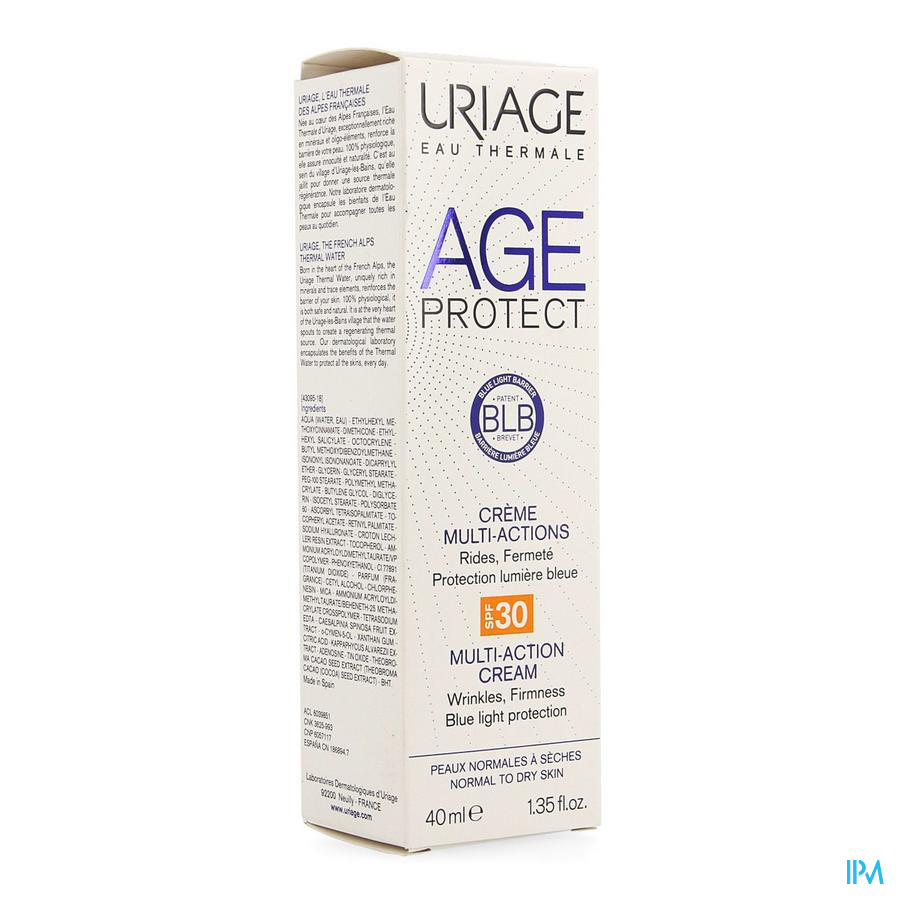 Uriage Age Protect Cr Multi Actions Ip30 40ml