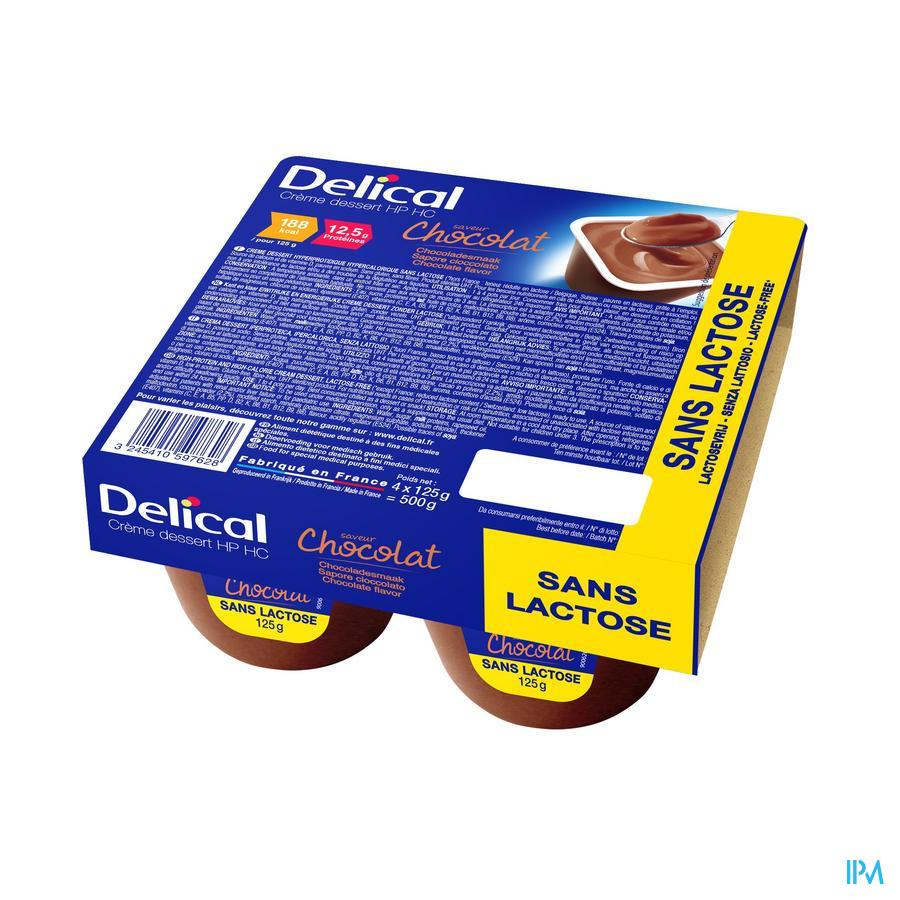 Delical Creme Dessert Hp-hc Z/lact.chocola 4x125g