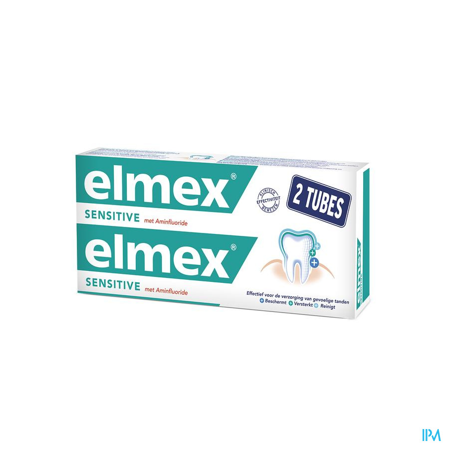 ELMEX® SENSITIVE TANDPASTA TUBE 2x75ML -1.5€