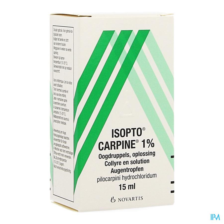 Pilocarpine-isopto 1 % Collyre 15 ml