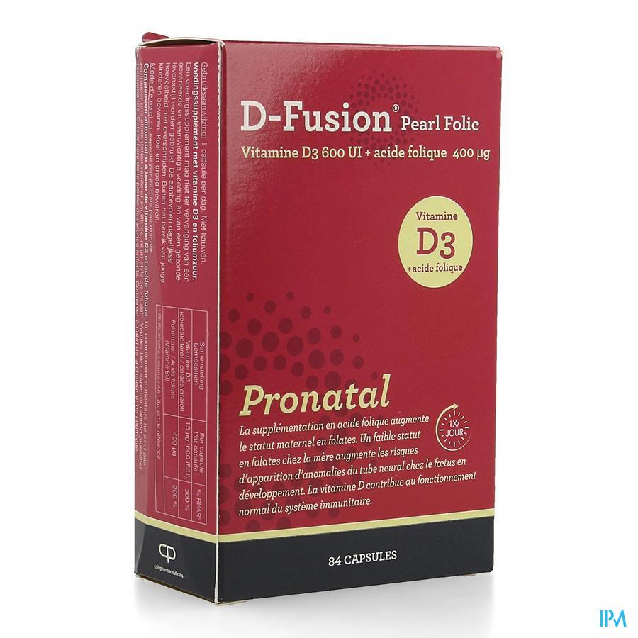D-fusion Pearl Folic Caps 84