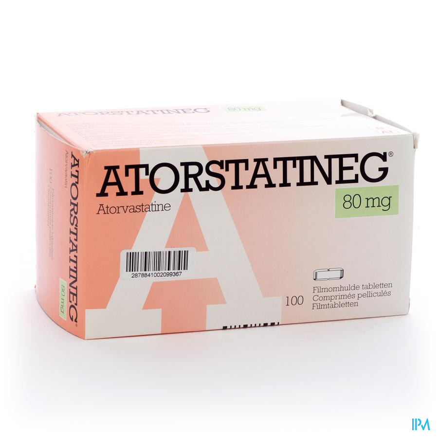 Atorstatineg D 80 mg Comprimés Pelliculés 100 X 80 mg