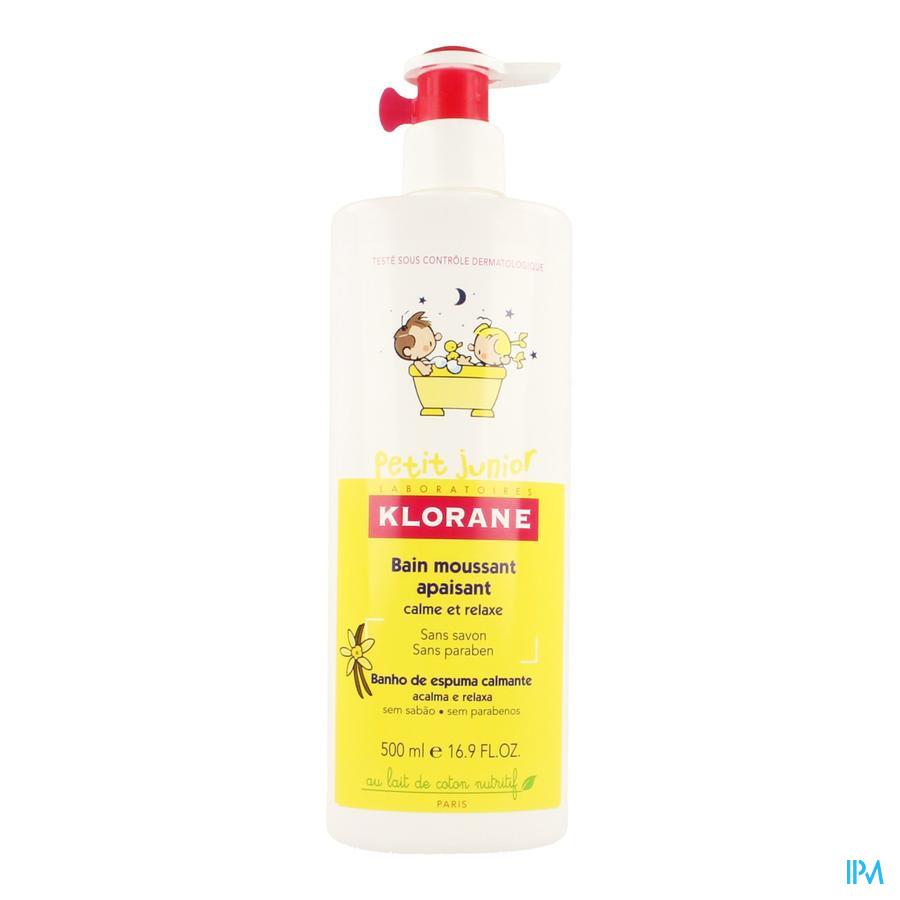Klorane Petit Junior Badschuim Pompfl 500ml