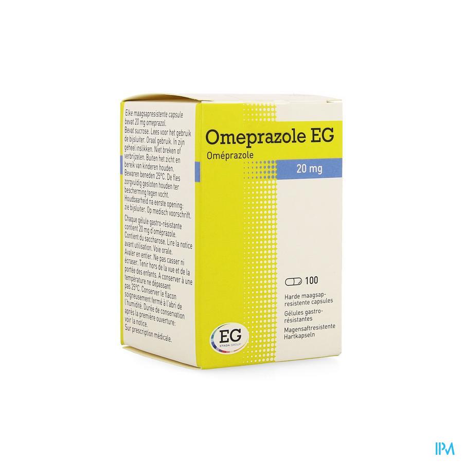 Omeprazole Eg 20mg Caps Maagsapresist Pot 100x20mg