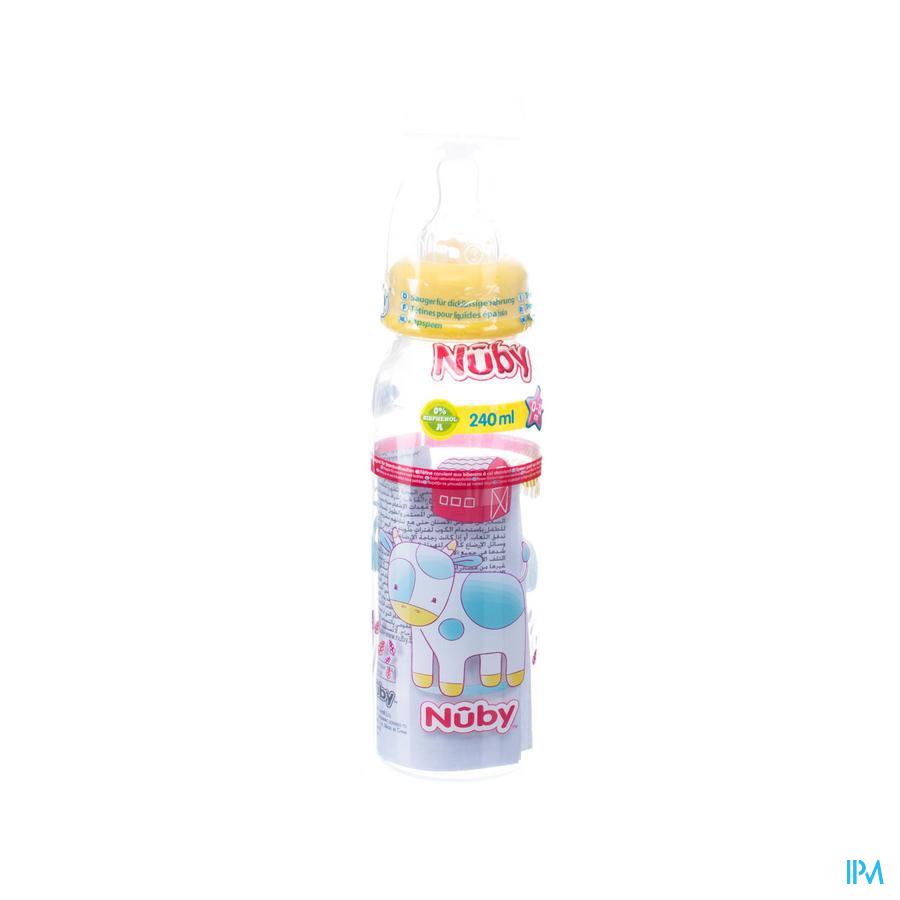 Nûby Voedingsfles – 1.2.3 flow - 240ml - 3m+