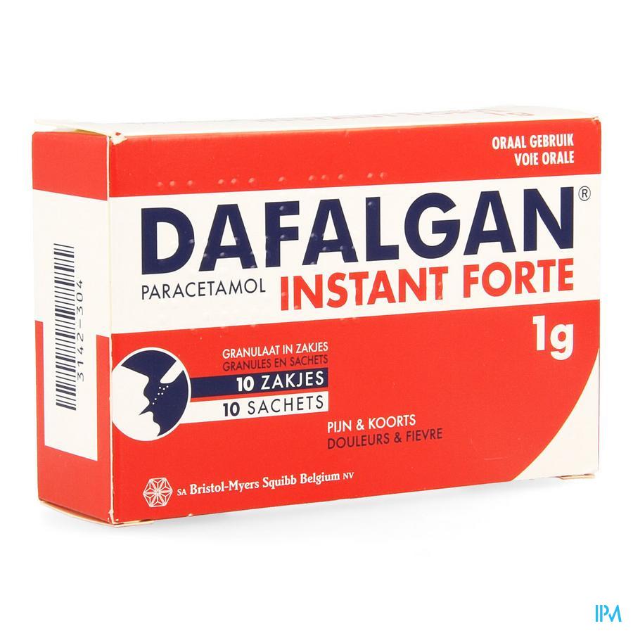 Dafalgan Instant Forte Gran Sachets 10x1000 mg