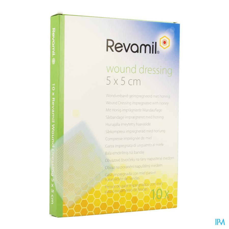 Revamil Wound Dressing Kp Honing 5x 5cm 10
