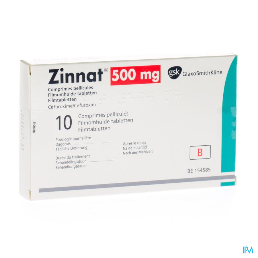 Zinnat 500 Comp 10x500mg