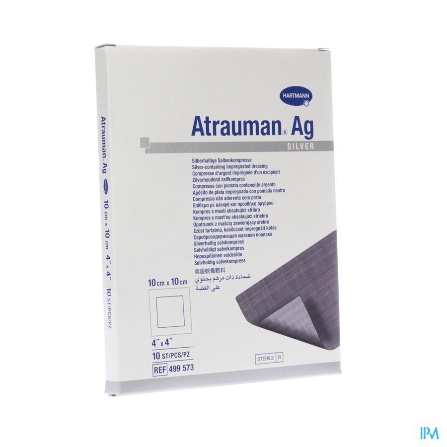 Atrauman Ag 10x10cm St. 10 P/s