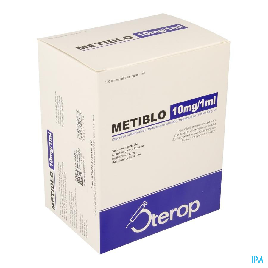 STEROP METIBLO 10 MG 1 ML 100 AMP