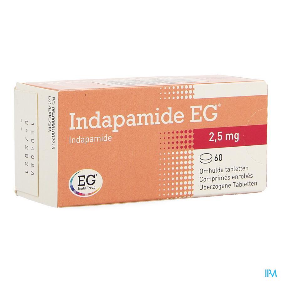Indapamide Eg Drag 60x2,5mg