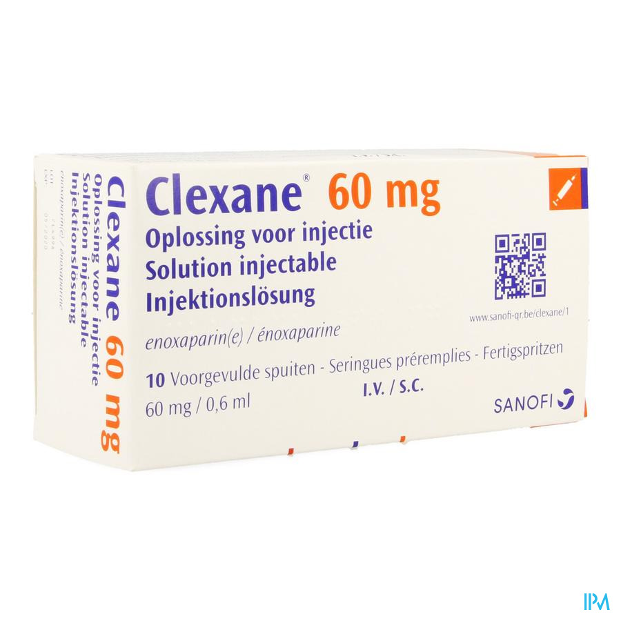 Clexane Spuit Inj 10 X 60mg/0,6ml